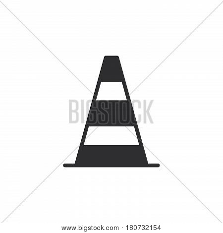 Pylon traffic cone icon vector filled flat sign solid pictogram isolated on white. Symbol logo illustration. Pixel perfect