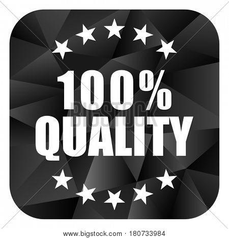 Quality black color web modern brillant design square internet icon on white background.