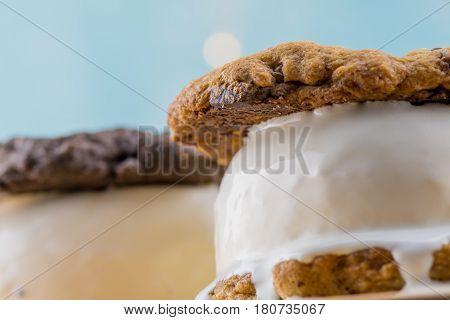 Edge Of Melting Ice Cream Sandwich