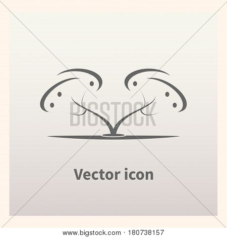 Fruit tree isolated on background. Vector illustration