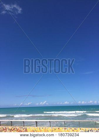 Playa la Pared beach in Luquillo, Puerto Rico