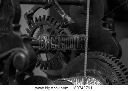 The Mechanism Of A Old And Vintage Machine