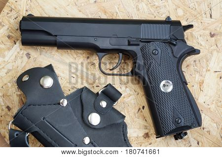 The copy of the Soviet gun Colt for pneumatic firing