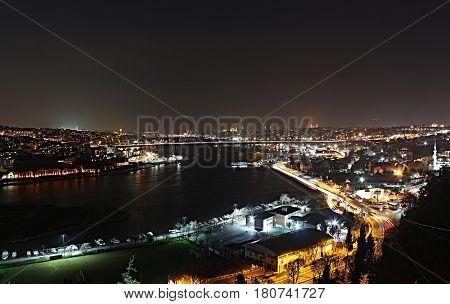 istanbul, long exposure, pierre loti, night, landscape, country, city