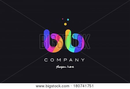 Bb B B  Colored Rainbow Creative Colors Alphabet Letter Logo Icon