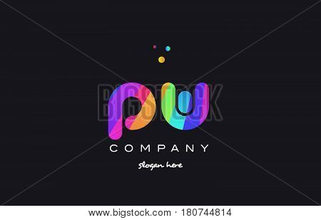 Qa Q A  Colored Rainbow Creative Colors Alphabet Letter Logo Icon