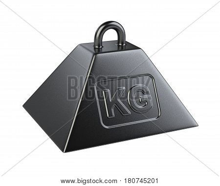 Weight with mass symbol. 3d illustration isolated on a white background.