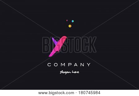Xy X Y  Colored Rainbow Creative Colors Alphabet Letter Logo Icon
