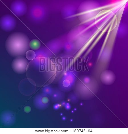 Square background with magic light colors. Misty template.