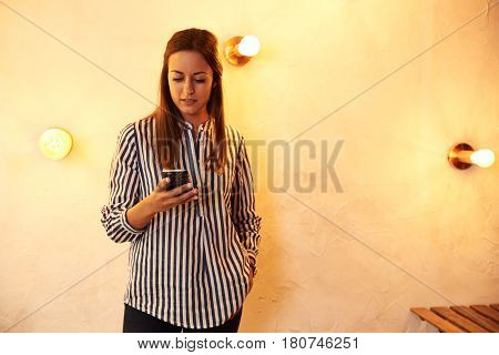 Beautiful Millennial With Her Cell Phone