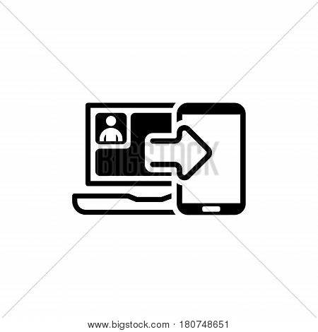Synchronization Icon. Flat Design. Mobile Devices and Services Concept. Isolated Illustration.