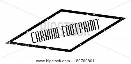 Carbon Footprint rubber stamp. Grunge design with dust scratches. Effects can be easily removed for a clean, crisp look. Color is easily changed.