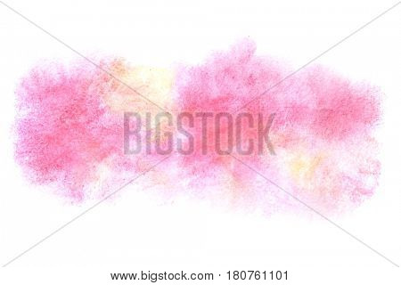 Colorful watercolor stain - abstract background. Watercolour element for your design