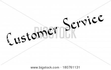 Customer Service rubber stamp. Grunge design with dust scratches. Effects can be easily removed for a clean, crisp look. Color is easily changed.