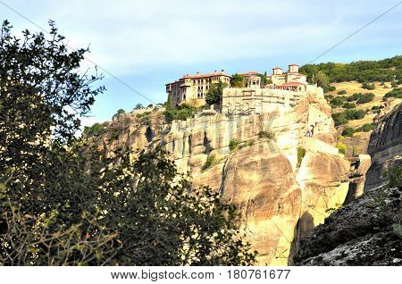 Meteora Monasteries located north of Greece in the region of Thessaly
