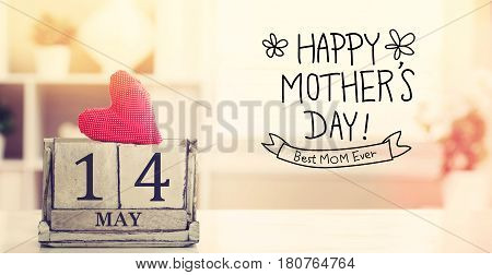 14 May Happy Mothers Day Message With Calendar