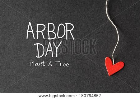 Arbor Day Message With Paper Hearts