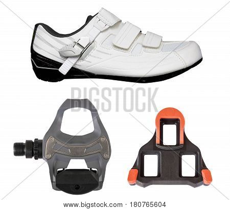 Clipless pedal and cleat for road bike