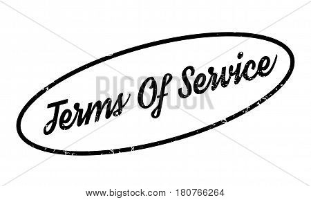 Terms Of Service rubber stamp. Grunge design with dust scratches. Effects can be easily removed for a clean, crisp look. Color is easily changed.