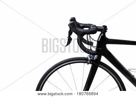 A Road bike isolated with copy space