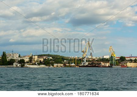 Sevastopol, Russia - June 09, 2016: Northern Machine-Building Enterprise in Sevastopol