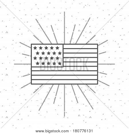 United states of america country flag icon. usa indepence day design. vector illustration