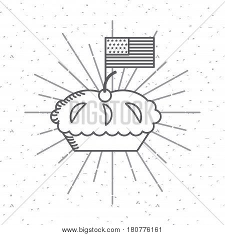 pie icon over white background. usa indepence day design. vector illustration