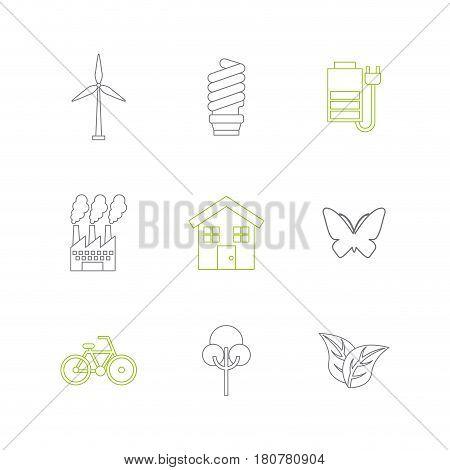 sustainability and ecology icon set over white background. vector illustration
