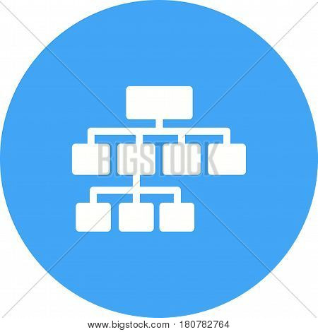 Chart, flowchart, structure icon vector image. Can also be used for business administration. Suitable for mobile apps, web apps and print media.