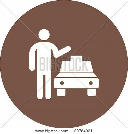 Taxi, cab, city icon vector image. Can also be used for city lifestyle. Suitable for web apps, mobile apps and print media.