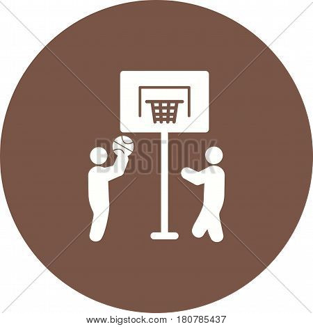 Basketball, hoop, basket icon vector image. Can also be used for city lifestyle. Suitable for web apps, mobile apps and print media.