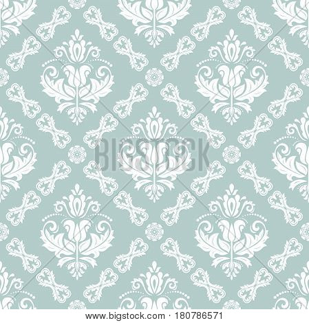 Classic seamless vector pattern. Traditional orient ornament. Classic vintage blue and white background