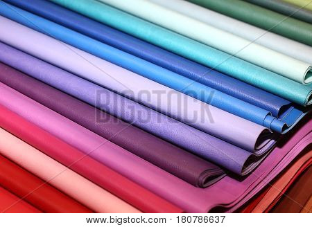 Colorful Leather For The Creations Of Fashion Clothes