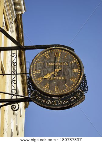 The Old Bristol Master Clock College Green Bristol This was the Master Time Clock for Bristol Time which was ten minutes behind London Time before GMT was introduced