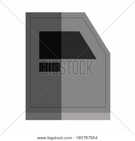 bunker truck door icon vector illustration design