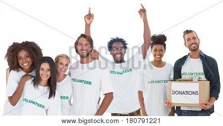 Digital composite of group of volunteers