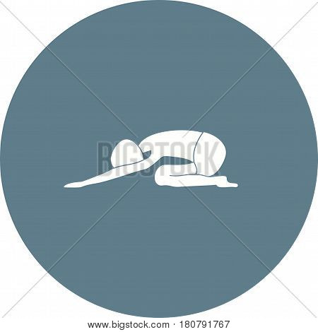 Hare, yoga, pose icon vector image. Can also be used for yoga poses. Suitable for mobile apps, web apps and print media.
