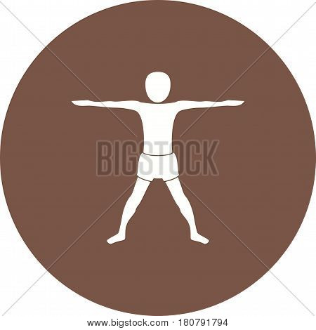 Pose, yoga, extended icon vector image. Can also be used for yoga poses. Suitable for mobile apps, web apps and print media.