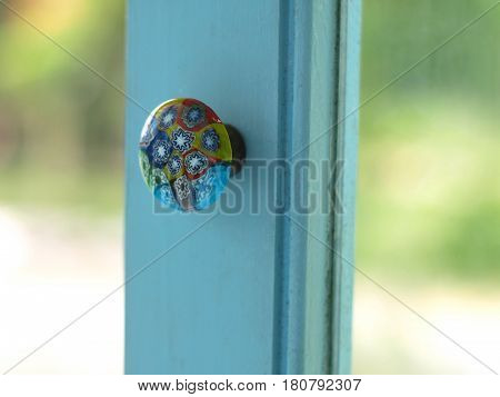 Beautiful decorative glass door knob vintage style