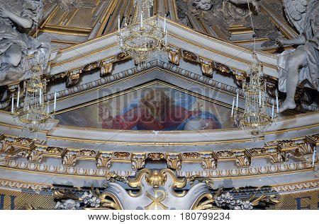 ROME, ITALY - SEPTEMBER 04: God the Father, church dei Santi XII Apostoli in Rome, Italy on September 04, 2016.