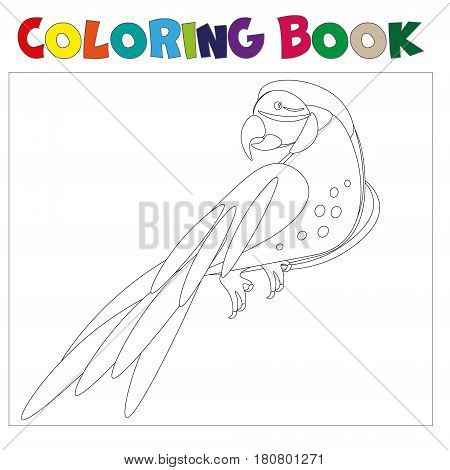 Coloring pages Parrot . Little cute parrot.Vector illustration