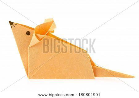 Orange Mouse Origami Isolated On Image Photo Bigstock