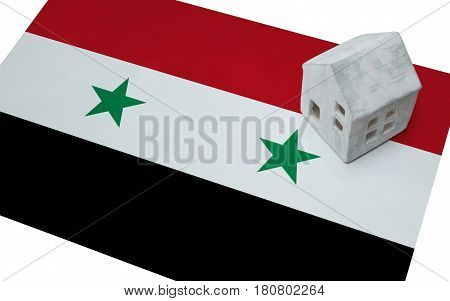Small House On A Flag - Syria
