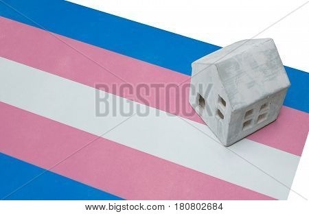 Small House On Flag - Trans Pride