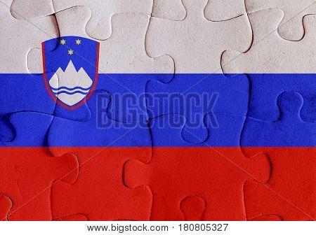 Republic Of Slovenia Flag Puzzle