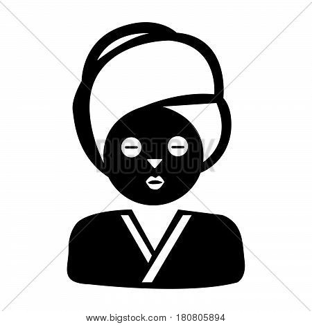 Flat Black Face Mask Icon