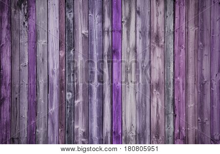 Creative multicoloured Wood Background in pink and purple colors, autumn colors
