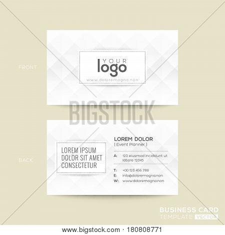 modern business card with diamond grey pattern background