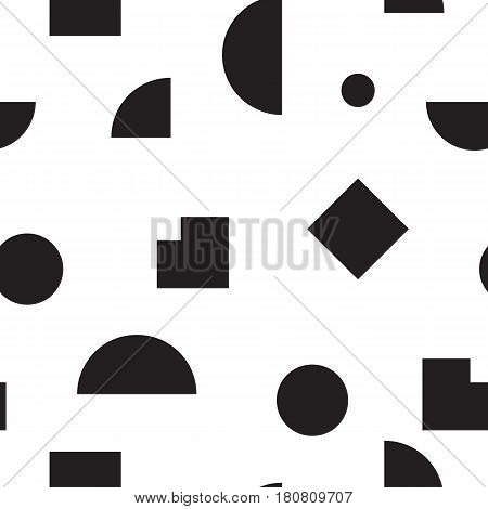 Vector geometric seamless pattern. Universal Repeating abstract circles figure in black white. Modern halftone circle design, pointillism