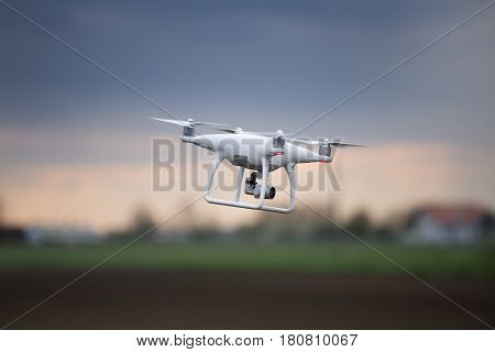 Drone Flying In The Air